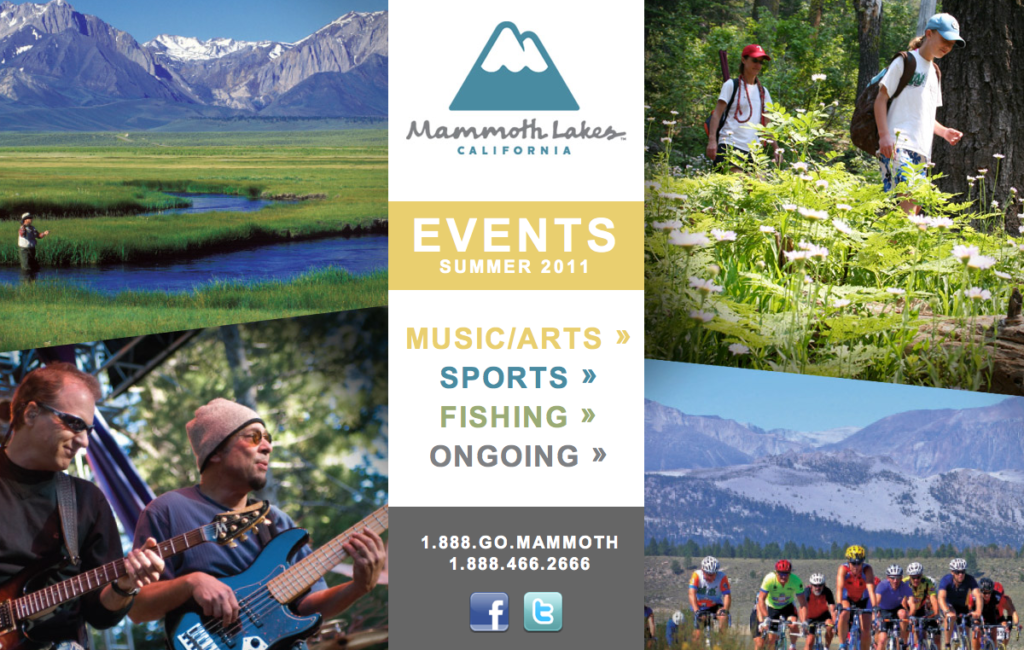 Mammoth Festivals Landing Page