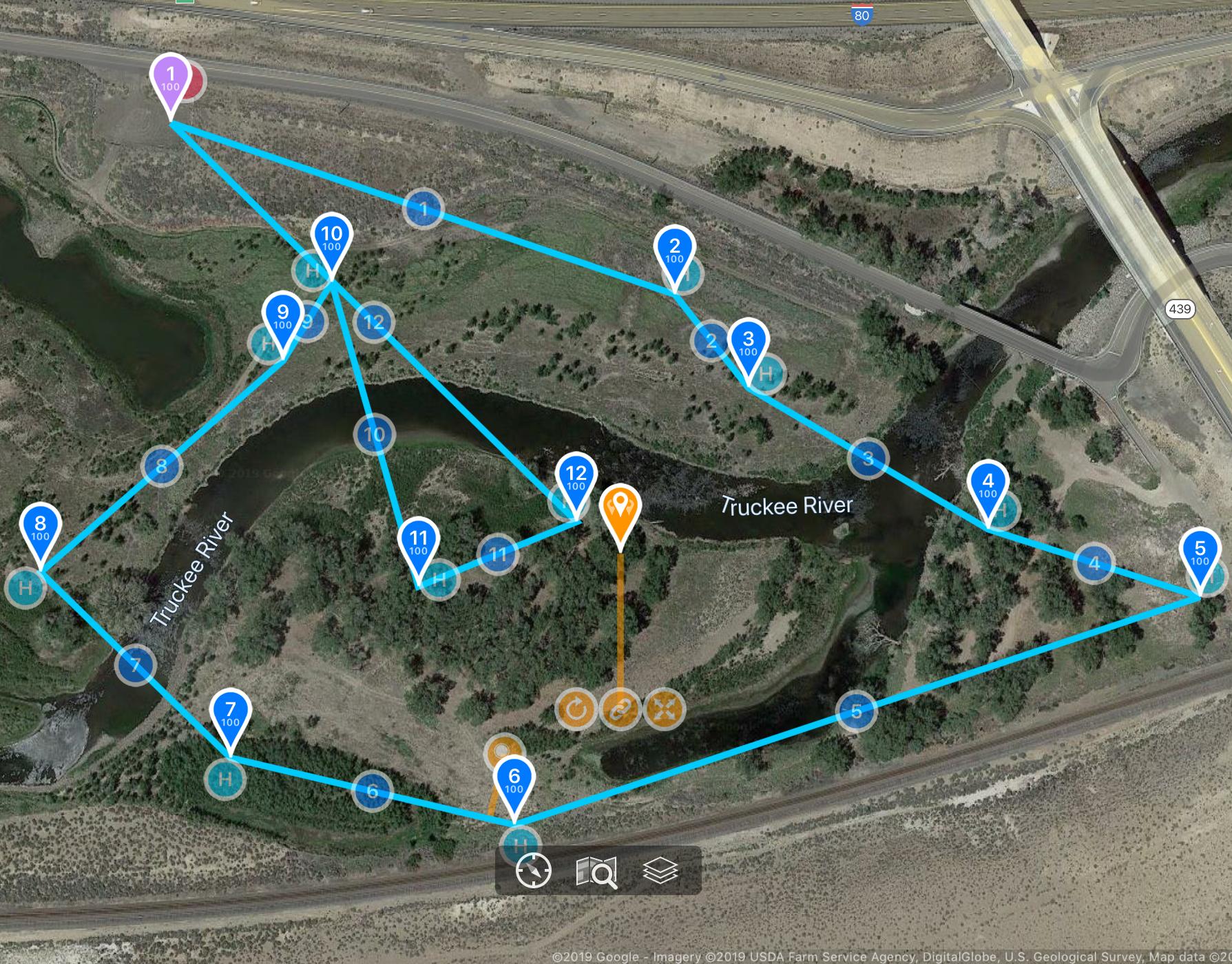 Aerial Survey GPS track